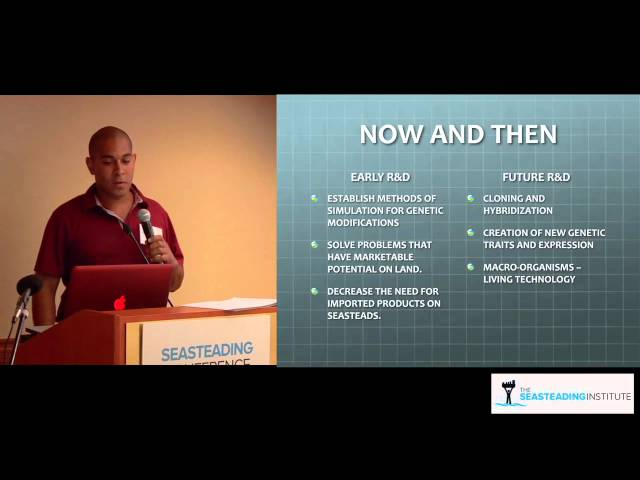 Gabriel Rothblatt from Terasem at the Seasteading Conference 2012