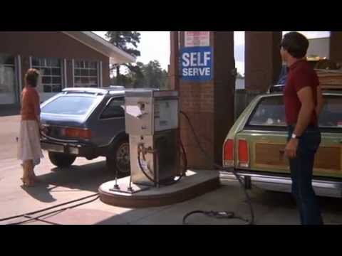 Find A Gas Station >> National Lampoon's Vacation - Clark fixing the license plate at a gas station - YouTube