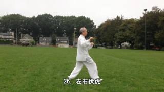 40式太極拳背向慢動作-2 (2013.09.14) 40 Form Tai Chi  Slow moving-2 (Back View)
