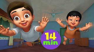 Chunnu Munnu The Do Bhai New Version | Hindi Rhymes Collection for Children | Infobells