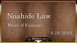 Noahide Law and Questions - Biblefacts Live Stream with Ken Johnson 4-18-2019