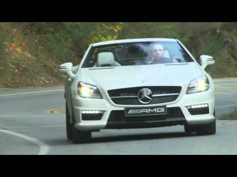 Mercedes SLK 55 AMG in Magna Kashmir White