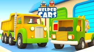 Helper Cars cartoon for children: Street vehicles cars and trucks.