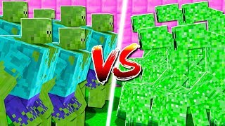 MUTANT ZOMBIES vs MUTANT CREEPERS IN MINECRAFT!