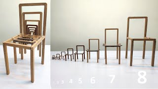 Illusion Chair - How to make Chair That contains More Chairs