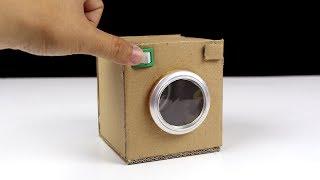 DIY How to make Washing Machine from Cardboard - Very Easy