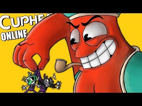 Cuphead Online: FANTASMAS FAILS, RAGE QUITS & ALADDIN NARANJA TROLL! (Funny Moments con Amigos)