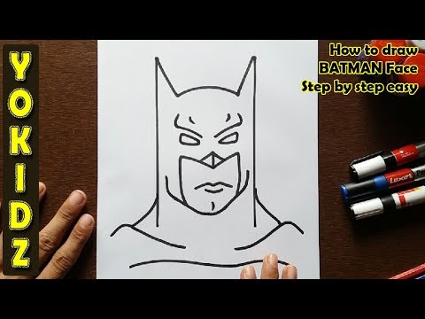 How to draw BATMAN FACE step by step easy