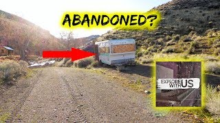 IS SOMEONE HIDING HERE?? 😱😱 Exploring Disturbing Abandoned Trailer Follow Up Video