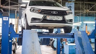 Lada Vesta: Cross? Измеряем клиренс Kalina Cross, Largus Cross и Vesta