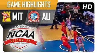 AU vs MIT   Game Highlights   NCAA 92   September 30, 2016