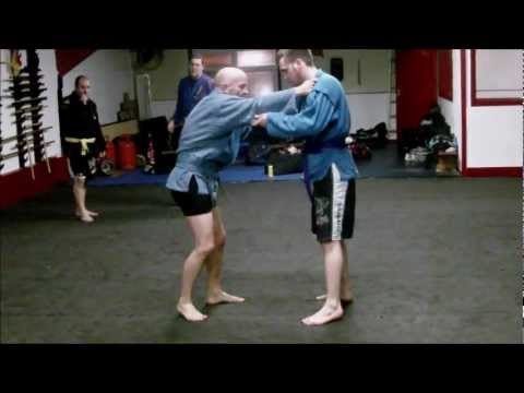 Sambo Techniques - Sleeve & Collar Grip 2: Shoulder Wheel.wmv Image 1