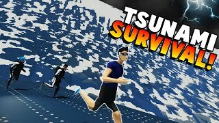HUGE TSUNAMI SURVIVAL! - Stormworks: Build and Rescue Gameplay Roleplay - New Tsunami Update!