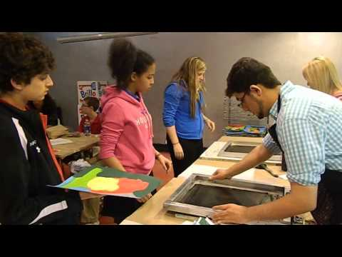 Students Screen Print at Warhol Museum, Shady Side Academy Middle School