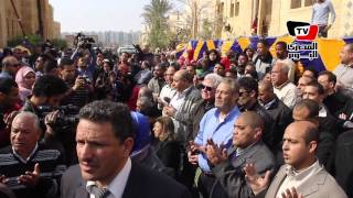 مراسم دفن سيدة الشاشة العربية فاتن حمامة