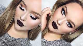 Extreme Cat Eyes & CHOCOLATE Lips Glam Holiday Makeup
