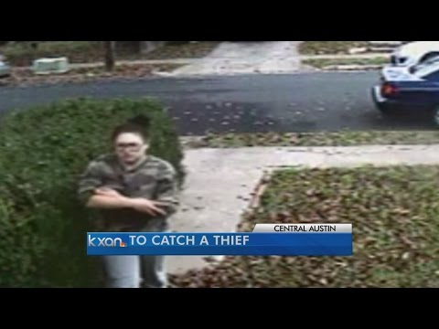 Home surveillance catches package thief on camera