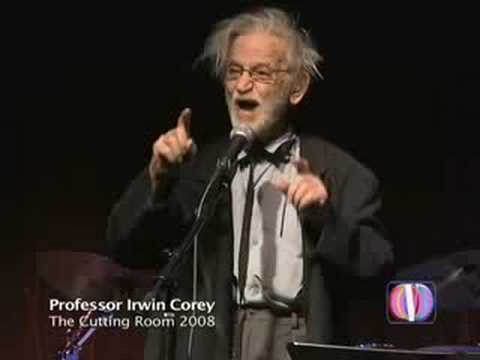 Professor Irwin Corey At The Cutting Room Nyc Youtube