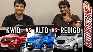 Maruti Alto vs Renault Kwid vs Datsun RediGo - Detailed Discussion