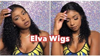 Elva Hair Aliexpress Wig Review | NYUWA | This Bomb Water Wave Curly 360 Full Lace Front Wig