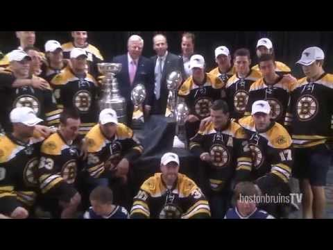 The Boston Bruins visit The New England Patriots WITH THE CUP!!!!!!