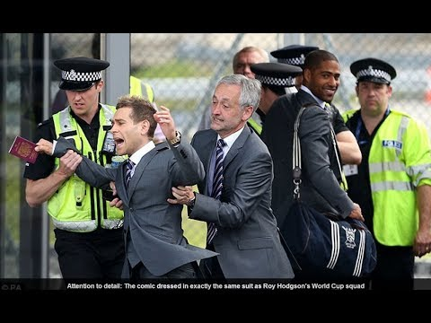 Simon Brodkin (Lee Nelson) caught trying to join England squad