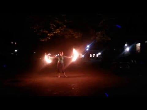 fire spinning - dogwalkers of the new age, breathe owl breathe