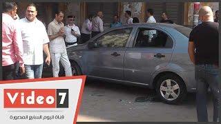 بالفيديو.. أولى اللقطات للسيارة المشتبه بتفخيخها أمام ضريح سعد زغلول