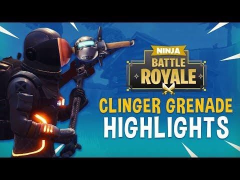 New Clinger Grenade Highlights!! - Fortnite Battle Royale Highlights - Ninja