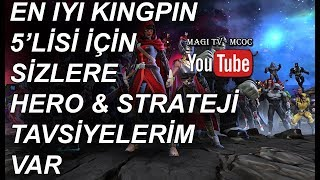 BEST 5 HEROES FOR KINGPIN ADVENTURE - MCOC -MARVEL CONTEST OF CHAMPIONS