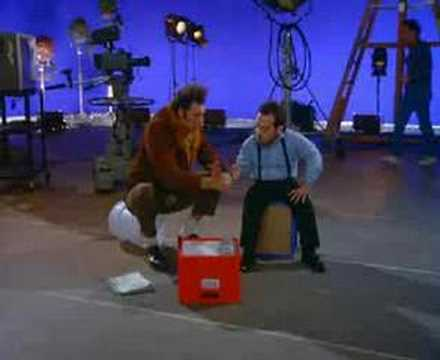 Kramer & Mickey playing rock, paper, scissors