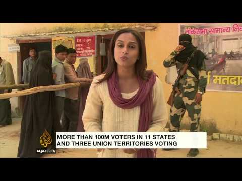 India votes in third phase of elections