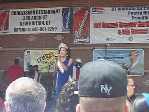 La Boriquena sang by Miss Puerto Rico Rico of Hartford 2012