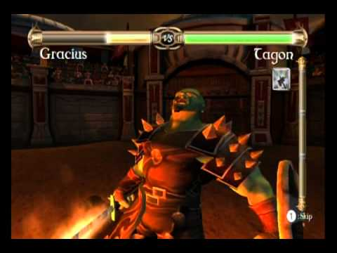 10-Minute Gameplay – Rage of the Gladiator (WiiWare)
