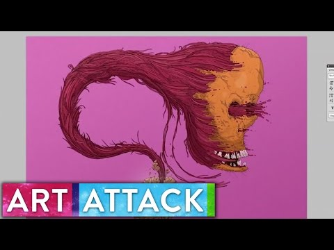 Art Attack // EVOLUTION Timelapse Art by Matthew Wade