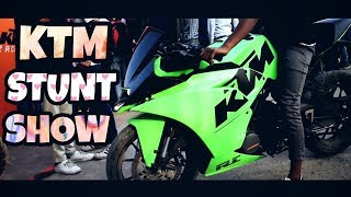 KTM Stunts Show | Track Race | ORANGE DAY SPECIAL | Famous Stunters Of India |