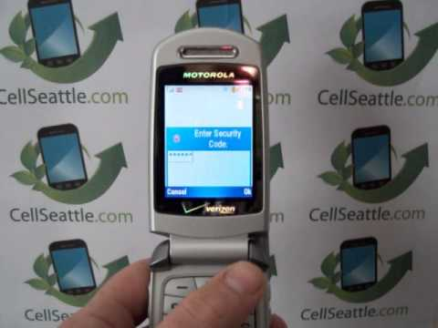 Master Reset Verizon Motorola e815