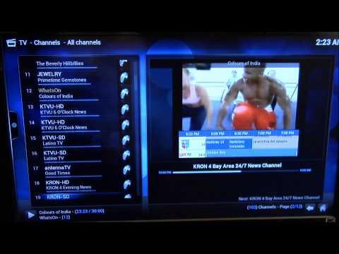Raspberry Pi 2. Kodi Live TV