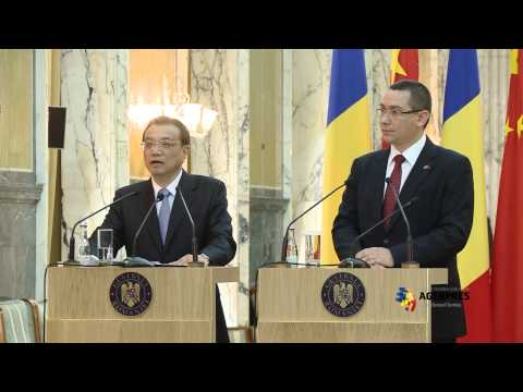 Semnare acorduri bilaterale si declaratii Li Keqiang - Victor Ponta 25 noiembrie 2013