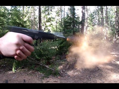 Strike Industries Frame Shock Buffer: Glock 20 Slow Mo Recoil Test 10mm Review