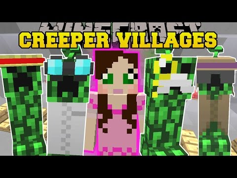 Minecraft: CREEPER VILLAGES! (MORE VILLAGERS. GROW CREEPERS. & STRUCTURES) Mod Showcase