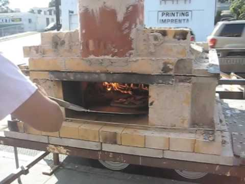 How to make and cook with a brick oven pizza youtube for How to make a brick stove