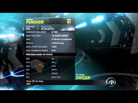 How to get unlimited skill points for your my player in NBA 2k12