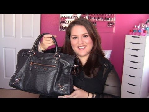 New Purse Haul! ~Balenciaga Giant City Bag in Black w/ Rose Gold Hardware!