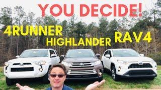 2019 RAV4 vs Highlander vs 4Runner: The Ultimate Battle!