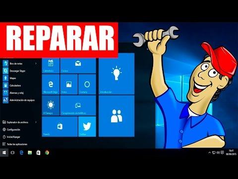 Opciones de reparar tu pc Windows 10 sin formatear