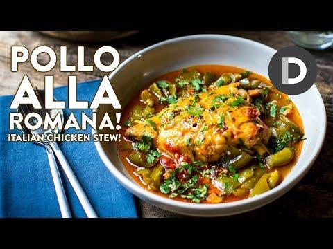 Pollo Alla Romana- Italian Chicken Stew!