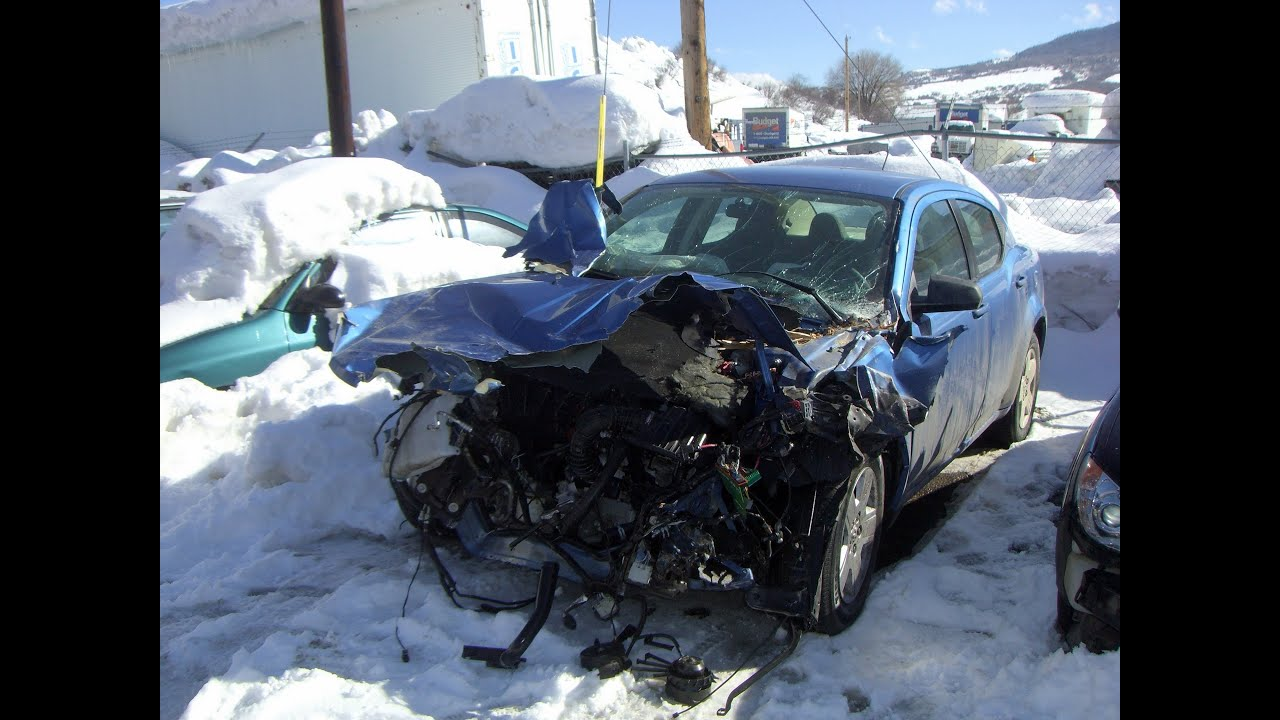 Car Accident  Crash On The Road  Colorado  United States  North America