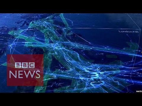 Amazing timelapse video tour of UK airspace - BBC News
