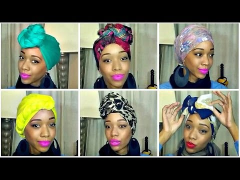 How to Tie a Turban/Headwrap   10 Different Styles + GIVEAWAY!!!(CLOSED)